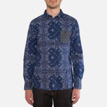 Мужская рубашка Evisu Genes Long Sleeve Bandana Shirt White/Indigo фото- 4