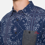 Мужская рубашка Evisu Genes Long Sleeve Bandana Shirt White/Indigo фото- 5