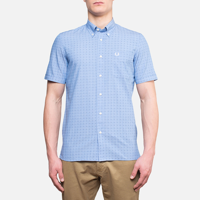 Fred Perry Double Dots Short Sleeve Turquoise