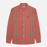 Мужская рубашка Fred Perry Laurel Stewart Tartan Red фото- 0