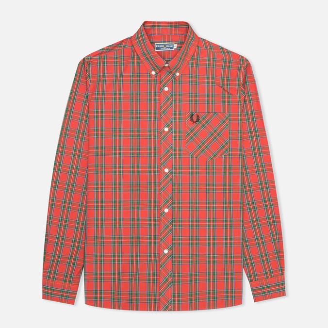 Мужская рубашка Fred Perry Laurel Stewart Tartan Red
