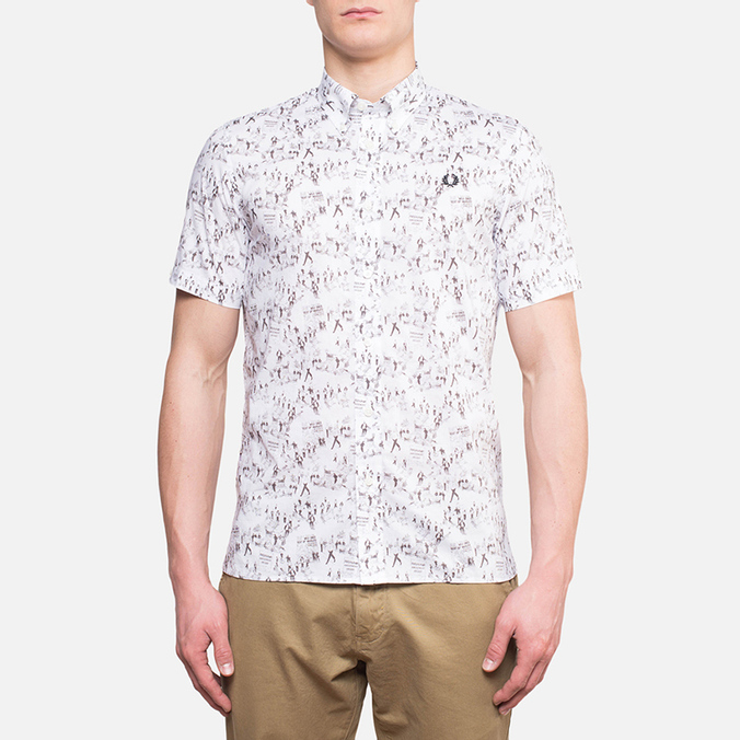 Fred Perry Whitsun Weekend Short Sleeve White