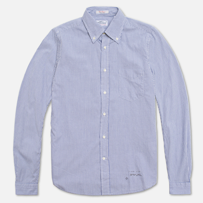 Мужская рубашка Gant Rugger Dreamy Oxford Ministripe Poseidon Blue