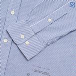 Мужская рубашка Gant Rugger Dreamy Oxford Ministripe Poseidon Blue фото- 3