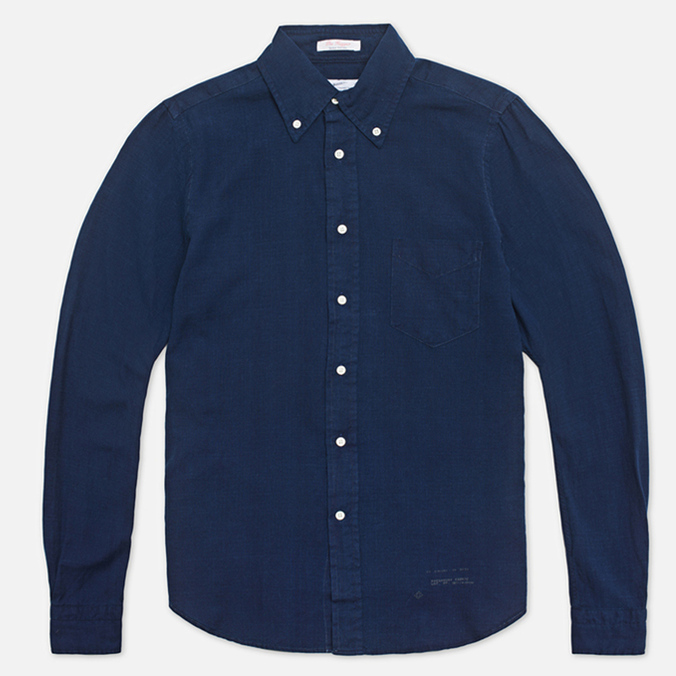 Мужская рубашка Gant Rugger Indigo Oxford Dark Indigo