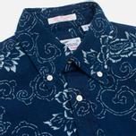 Мужская рубашка Gant Rugger Indigo Oxford Flower Dark Indigo фото- 1