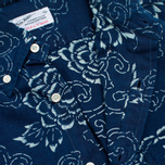 Мужская рубашка Gant Rugger Indigo Oxford Flower Dark Indigo фото- 2