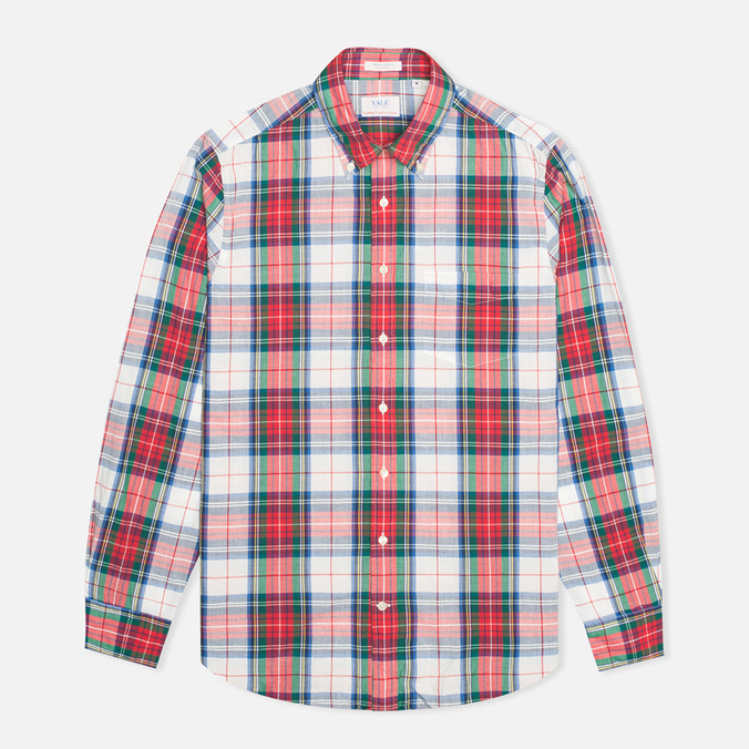 Мужская рубашка Gant Yale Co-op Archive Madras Check White