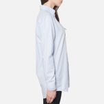 Женская рубашка Gant Yale Co-Op Banker Oxford Sea Blue фото- 1