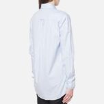 Женская рубашка Gant Yale Co-Op Banker Oxford Sea Blue фото- 2