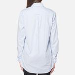 Женская рубашка Gant Yale Co-Op Banker Oxford Sea Blue фото- 3