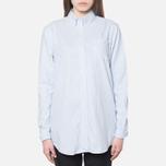 Женская рубашка Gant Yale Co-Op Banker Oxford Sea Blue фото- 4