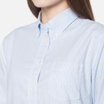 Женская рубашка Gant Yale Co-Op Banker Oxford Sea Blue фото- 5