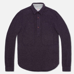Garbstore Pullover Shirt Navy photo- 0