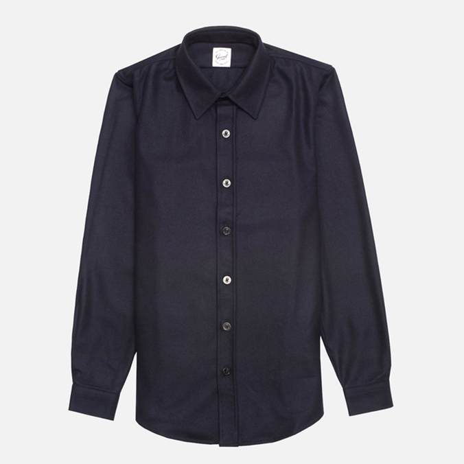 Gloverall Classic Original Check Shirt Navy