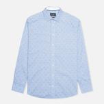 Мужская рубашка Hackett Anchor Dobby Blue фото- 0