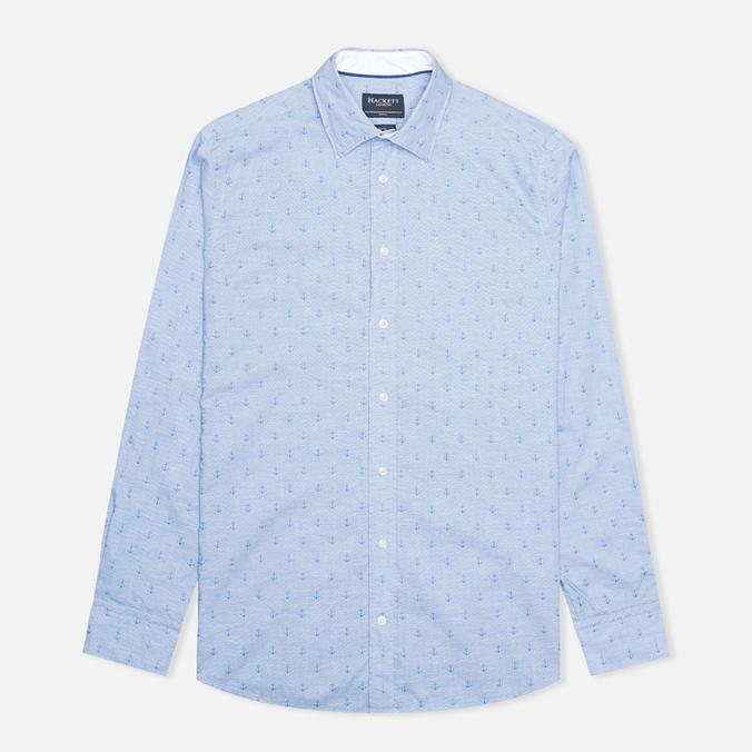 Мужская рубашка Hackett Anchor Dobby Blue