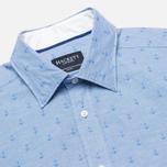Мужская рубашка Hackett Anchor Dobby Blue фото- 1