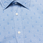 Мужская рубашка Hackett Anchor Dobby Blue фото- 2