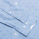 Мужская рубашка Hackett Anchor Dobby Blue фото- 3