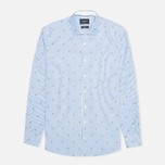 Мужская рубашка Hackett Anchor Filcoupe White/Blue фото- 0