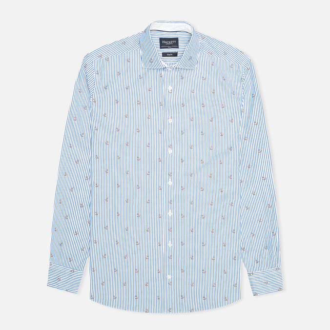 Мужская рубашка Hackett Anchor Filcoupe White/Blue
