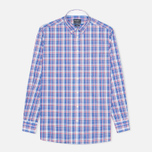 Мужская рубашка Hackett Bright Summer Check Blue фото- 0