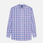 Hackett Bright Summer Check Men's Shirt Blue photo- 0