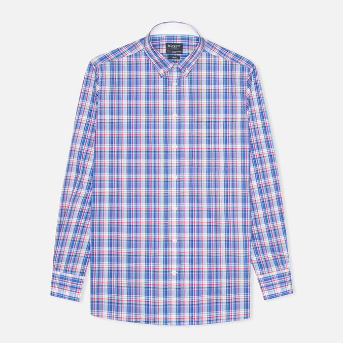 Hackett Bright Summer Check Men's Shirt Blue