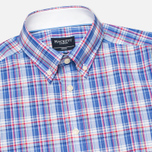 Мужская рубашка Hackett Bright Summer Check Blue фото- 1