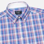 Hackett Bright Summer Check Men's Shirt Blue photo- 1