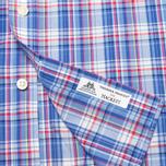 Hackett Bright Summer Check Men's Shirt Blue photo- 4