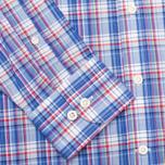 Hackett Bright Summer Check Men's Shirt Blue photo- 3