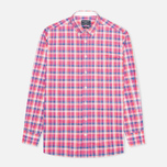 Мужская рубашка Hackett Bright Summer Check Coral фото- 0