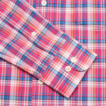 Мужская рубашка Hackett Bright Summer Check Coral фото- 3