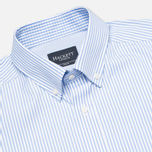 Мужская рубашка Hackett Classic Stripe Multi Trim White/Sky фото- 1