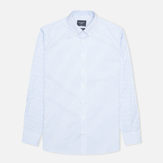 Мужская рубашка Hackett Classic Stripe Multi Trim White/Sky