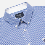 Мужская рубашка Hackett Gingham Badge White/Blue фото- 1