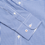 Мужская рубашка Hackett Gingham Badge White/Blue фото- 3