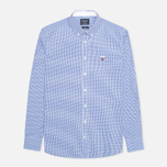 Мужская рубашка Hackett Gingham Badge White/Blue фото- 0