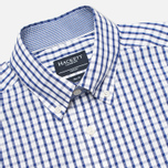 Hackett Grid Check Multi Trim Men's Shirt White/Blue photo- 1