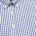 Hackett Grid Check Multi Trim Men's Shirt White/Blue photo- 2