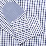 Мужская рубашка Hackett Grid Check Multi Trim White/Blue фото- 3
