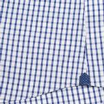 Мужская рубашка Hackett Grid Check Multi Trim White/Blue фото- 4