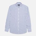 Мужская рубашка Hackett Grid Check Multi Trim White/Blue фото- 0