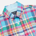 Hackett Linen Summer Plaid Men's Shirt Multicolor photo- 1