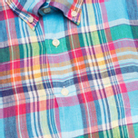 Hackett Linen Summer Plaid Men's Shirt Multicolor photo- 2