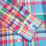 Hackett Linen Summer Plaid Men's Shirt Multicolor photo- 3