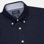 Мужская рубашка Hackett Solid Texture Navy фото- 1