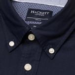 Мужская рубашка Hackett Solid Texture Navy фото- 2